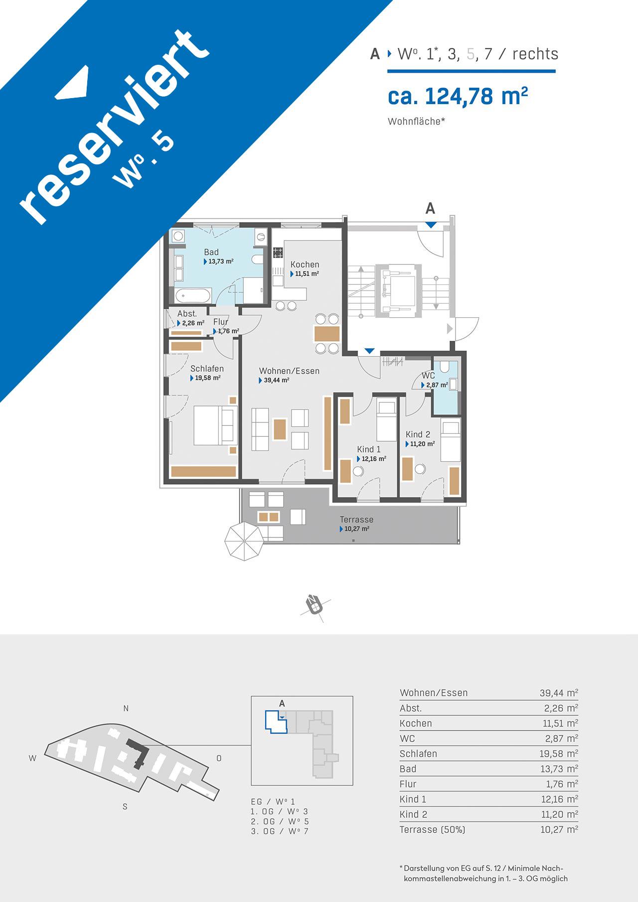 Haus 2a Grundriss Aufgang A Wohnung 1 3 5 7 rechts