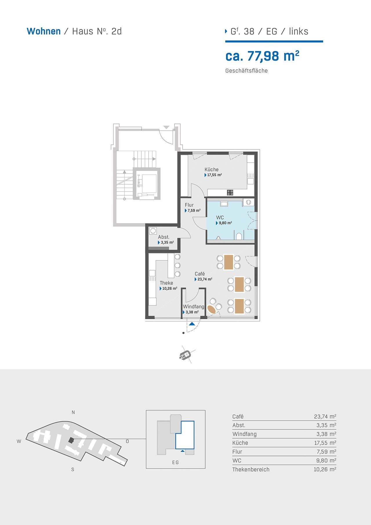 Haus 2d Grundriss Wohnung 38 EG links