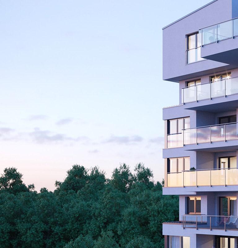 Leben im hugo49, dem exklusiven Turm mit markanter Architektur