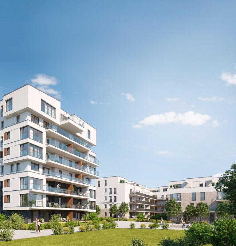 Gebäude zum Leben und Wohnen in Bayreuths Stadtquartier