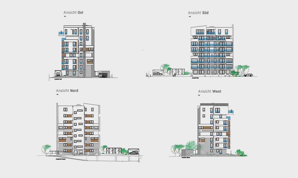 hugo49 | Wohnungen in Bayreuth | Immobilie mit Architektur in der Ansicht