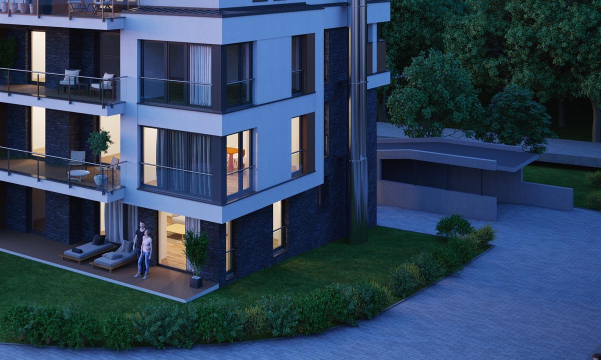 hugo49 | Leben in Bayreuth | Terrasse mit Gartennutzung | Tiefgarage