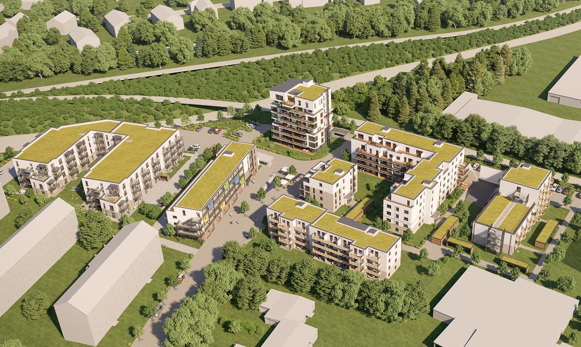 hugo49 Haus 6 Vogelperspektive – Stadtquartier Bayreuth